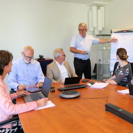 Projectoverleg op kantoor Evers + Manders