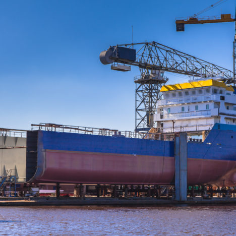 Offshore Energy schip in aanbouw