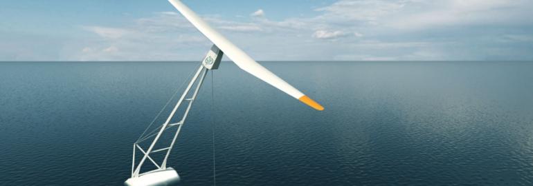 Drijvende offshore windmolen