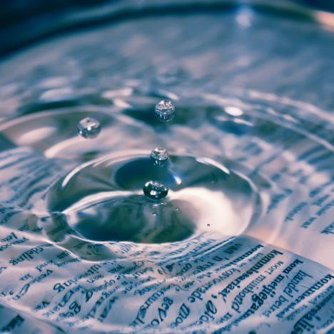 impact van een druppel water