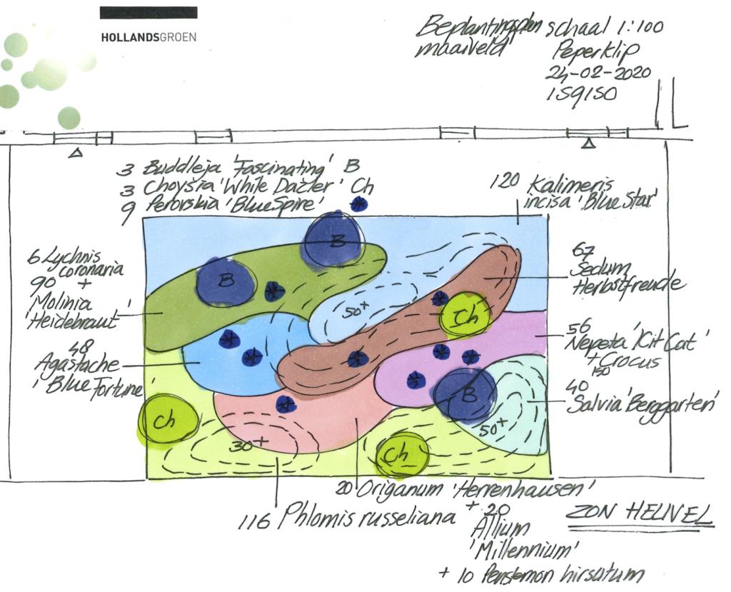 Beplantingsplan binnenterrein De Peperklip